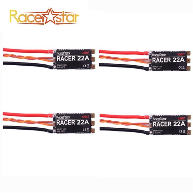 4PCS/lot Racerstar Racer22/33 22A/33A 2-4S 32bit DShot1200 Ready FPV Racing Brushless ESC For Multi Rotort Parts RC Model Toys lhi fpv 4x mt2206 2300kv cw ccw fpv brushless motor 2 4s 4 pcs racerstar rs20a lite 20a blheli s bb1 2 4s brushless esc