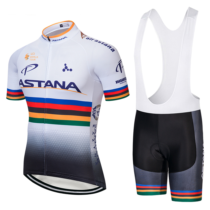 2018 TEAM ASTANA WHITE Cycling Clothing Bike jersey Ropa Quick Dry Mens Bicycle summer pro Cycling Jerseys gel pad bike shorts цена