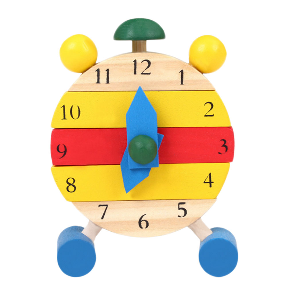 1 Set Baby Wooden Montessori Educational Color Digital Cognitive Learning DIY Clock Toys ...
