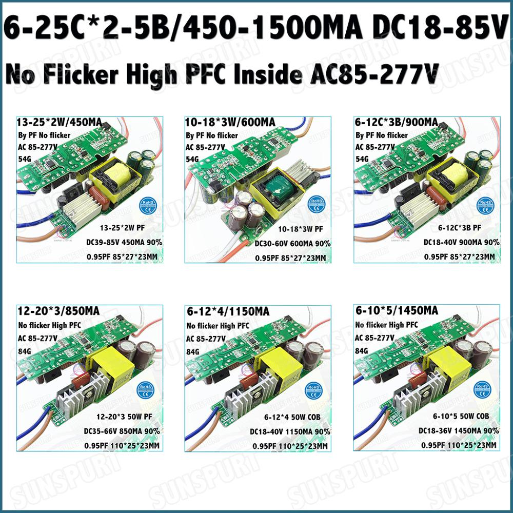 2 5pcs No Flicker Pf09 Inside 20 60w Led Driver 6 25cx2 5b 450 Constant Current Circuits Master Category Over Voltage Protection
