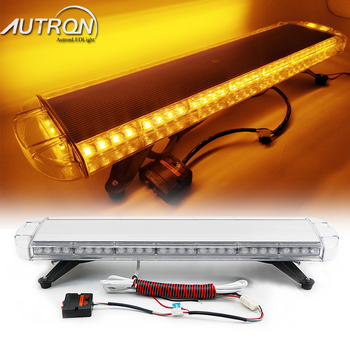 "Autron 34"" Inch 64W LED Strobe Light Bar Warning Emergency Beacon Roof Top Flashing Truck Tow Wrecker Response Signal Security"