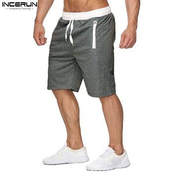 0e985d129 De verano Pantalones cortos de playa de los hombres casuales Bermuda  Masculino sólido cremallera bolsillos pantalones cortos de hombres  pantalones de ...