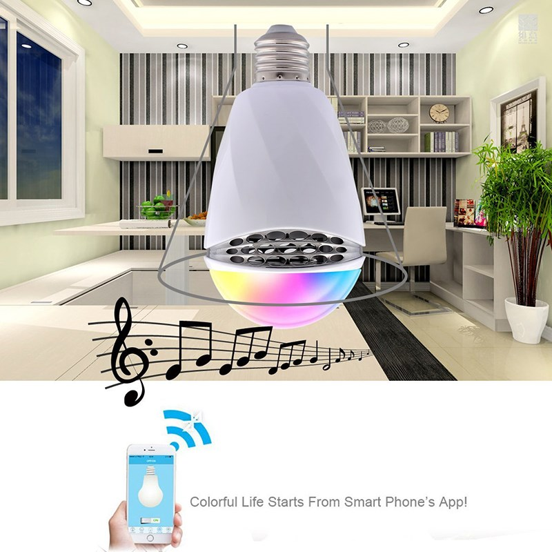 Smxui 12W E27 RGB Bulb Smart LED Light Wireless Bluetooth 4.0 APP Control Music Audio Speaker Color Changing Lamp AC100-240V led rgb bulb lamp app remote control e27 speaker bluetooth 4 0 music led night light