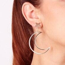 Fashion Star Moon Alloy Ear Stud Drop Dangle Earrings Women Lady Jewelry Gift