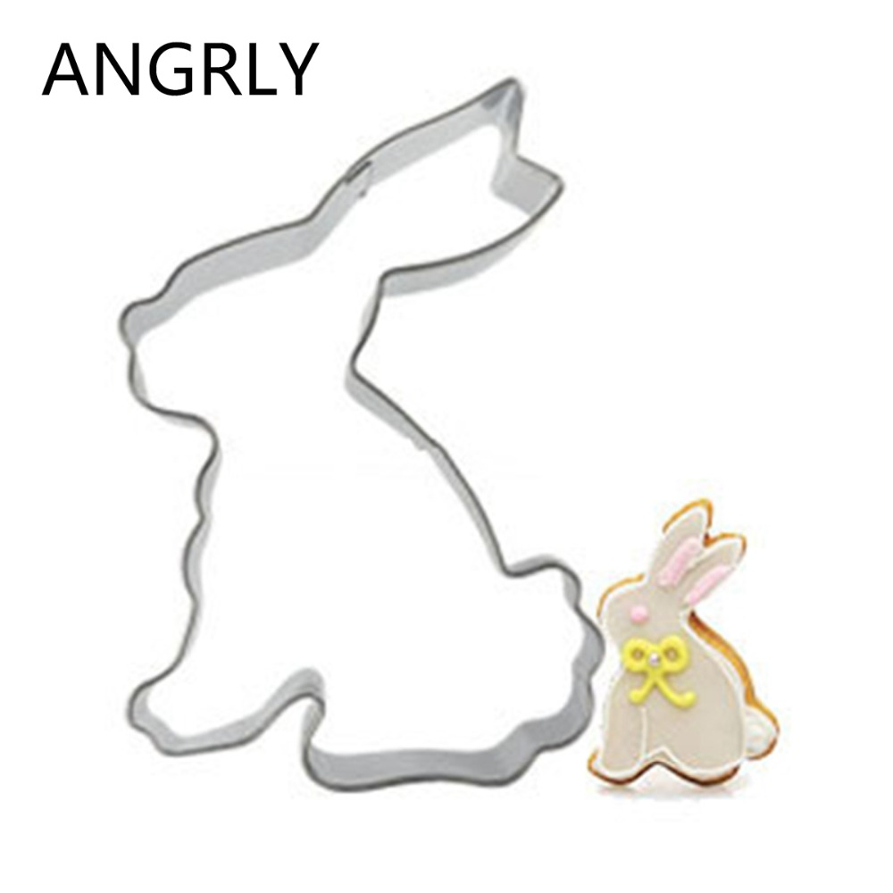 Rabbit Fondant Cutter Toy Kitchen Sale Egg Cake Mold Biscuit Cookie Knife Biscuit Stamp Tools For Kitchen Stainless Steel Shop