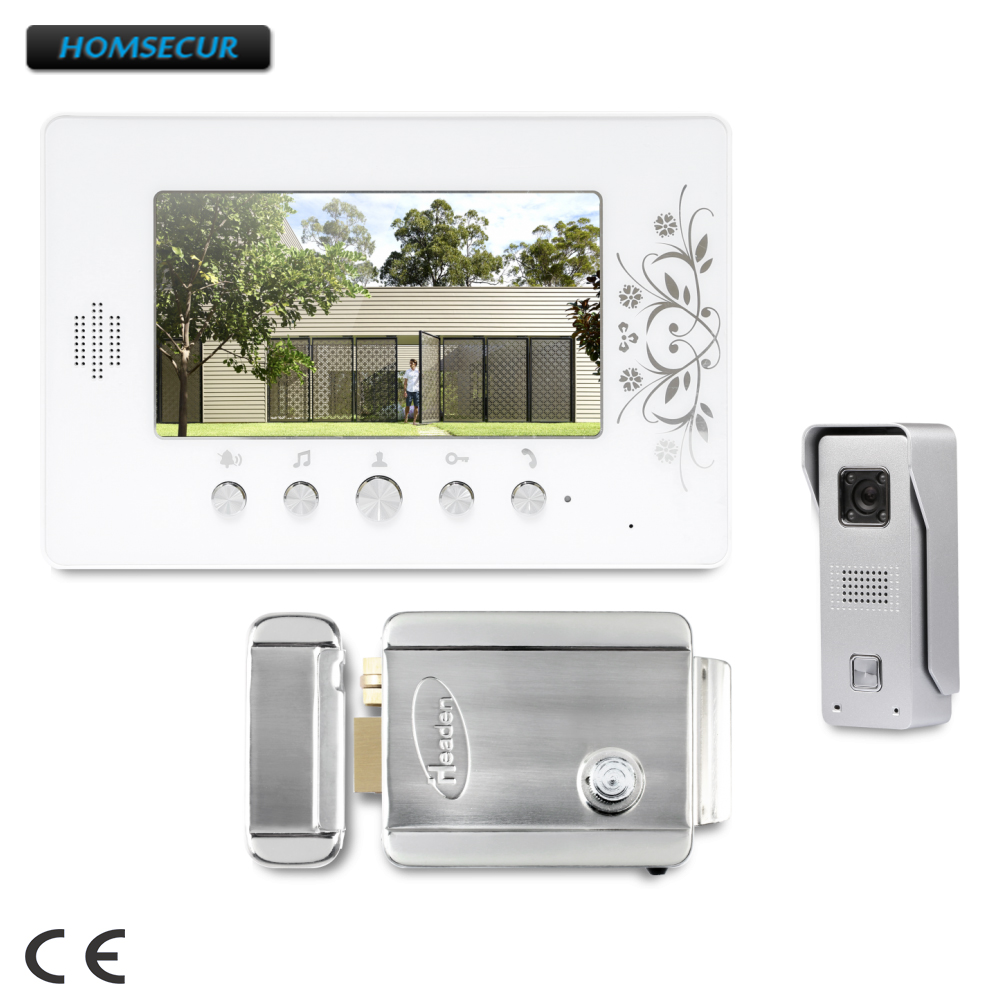 HOMSECUR 7 Hands-free Video Door Intercom System with IR Night Vision for Home Security : XC002+XM709HOMSECUR 7 Hands-free Video Door Intercom System with IR Night Vision for Home Security : XC002+XM709