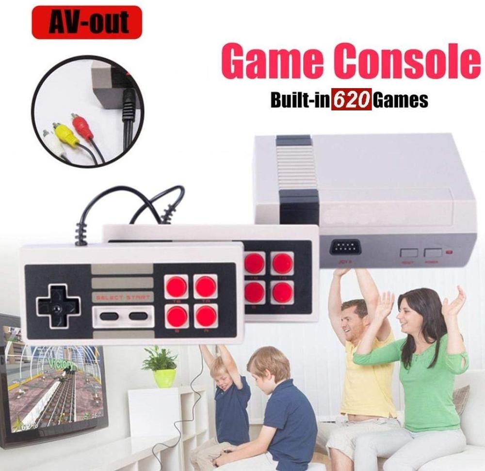 Mini TV Mini Video Game Console 8 Bit Retro Video Game Console Built-In 620 Games Handheld Gaming Player Best Entertainment Gift