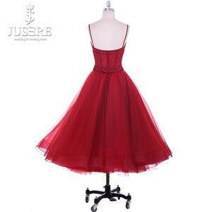Image 3 - Платье для Homecoming из двух предметов, кружевное платье с кружевной аппликацией, расшитое вручную, на тонких бретельках, для выпускного бала, 2018, Robe De Soiree, Короткие праздничные платья