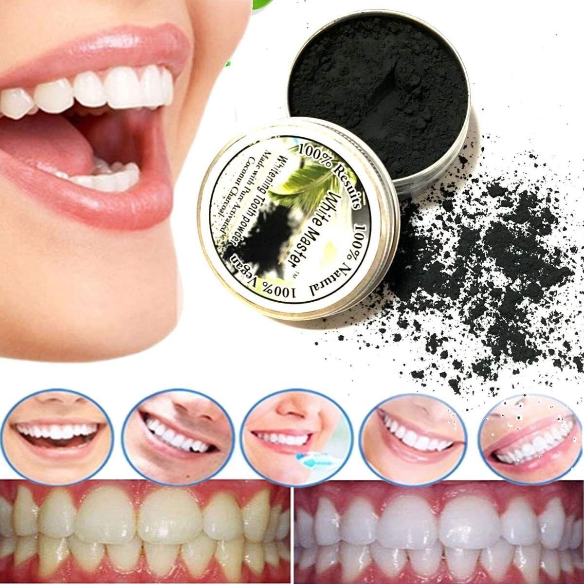 10g Murni Pemutihan Gigi Bubuk Gigi Hitam Arang Aktif Maquiagem