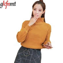 2017 Winter Knit Turtleneck Thermal Solid Color Sweaters