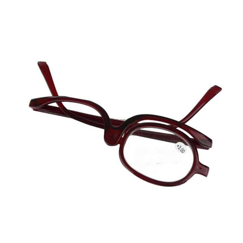 Zilead Magnifying Glasses Rotating Makeup Reading Glasses Folding Eyeglasses Cosmetic General +1.0 +1.5 +2.0+2.5+3.0+3.5+4.0