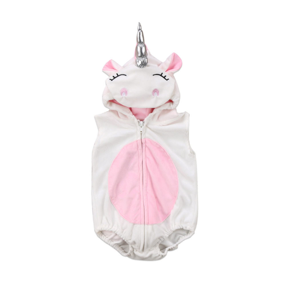 Infant Unicorn Costume | Newborn Baby Girl Unicorn Costume Fleece Romper Jumpsuit Jumper Outfits Costume