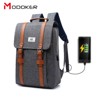 2017 Manufacture Anti Theft Travel Backpack Laptop Business Bag School Bag With USB Charging Port For