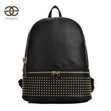Mochila para mujer, mochila escolar para chicas. Confeccionado con PU liso