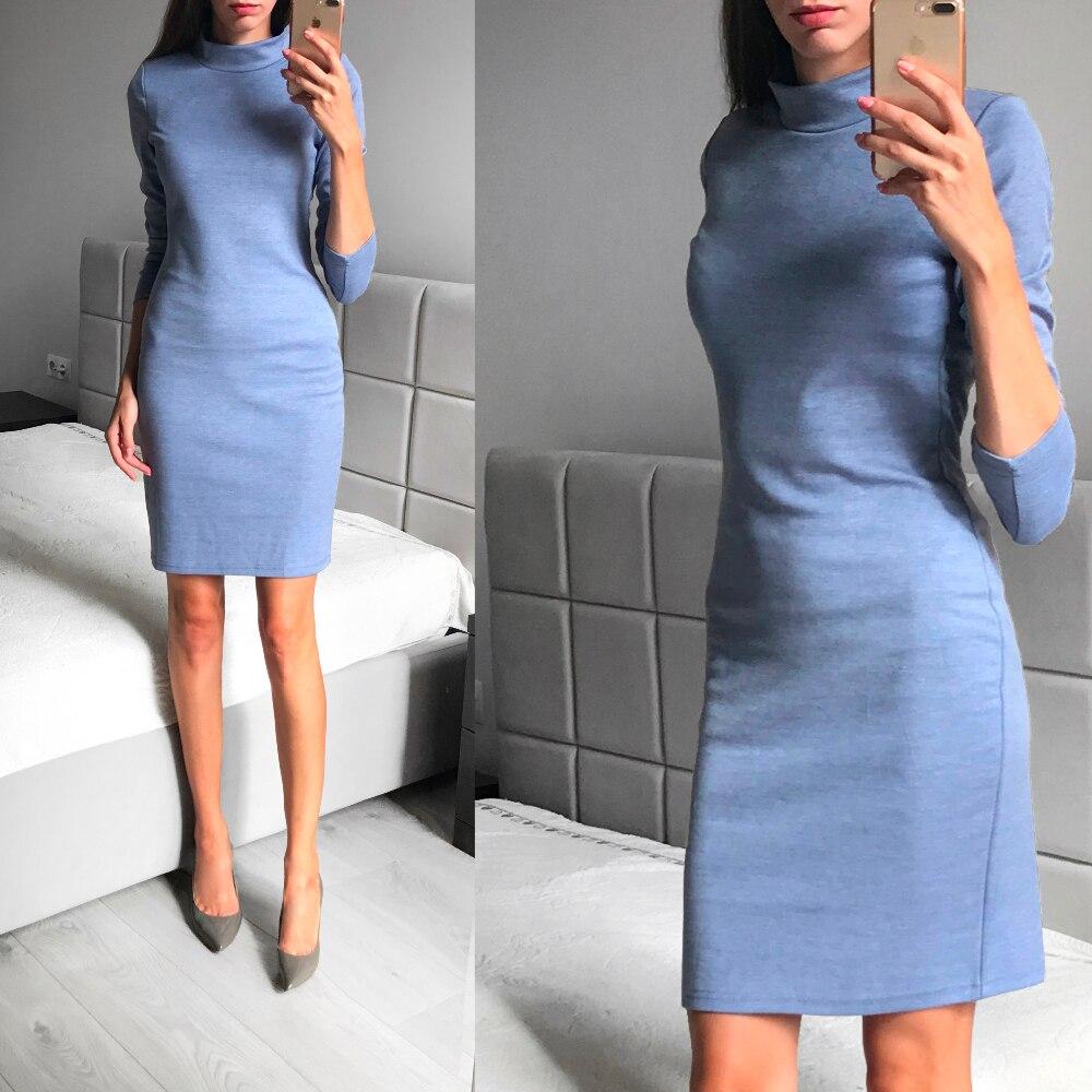 Универсальное трикотажное платье с Алиэкспресс