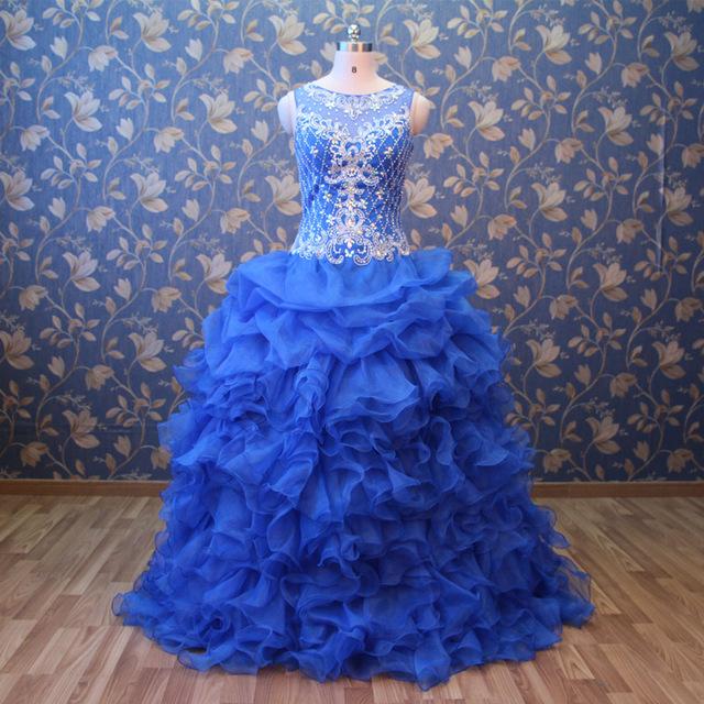 92f75dd9d Vestidos De 15 Anos Sweet 16 Dresses Debutante Gown Cinderella Princess Blue  Quinceanera Gowns Puffy Dresses