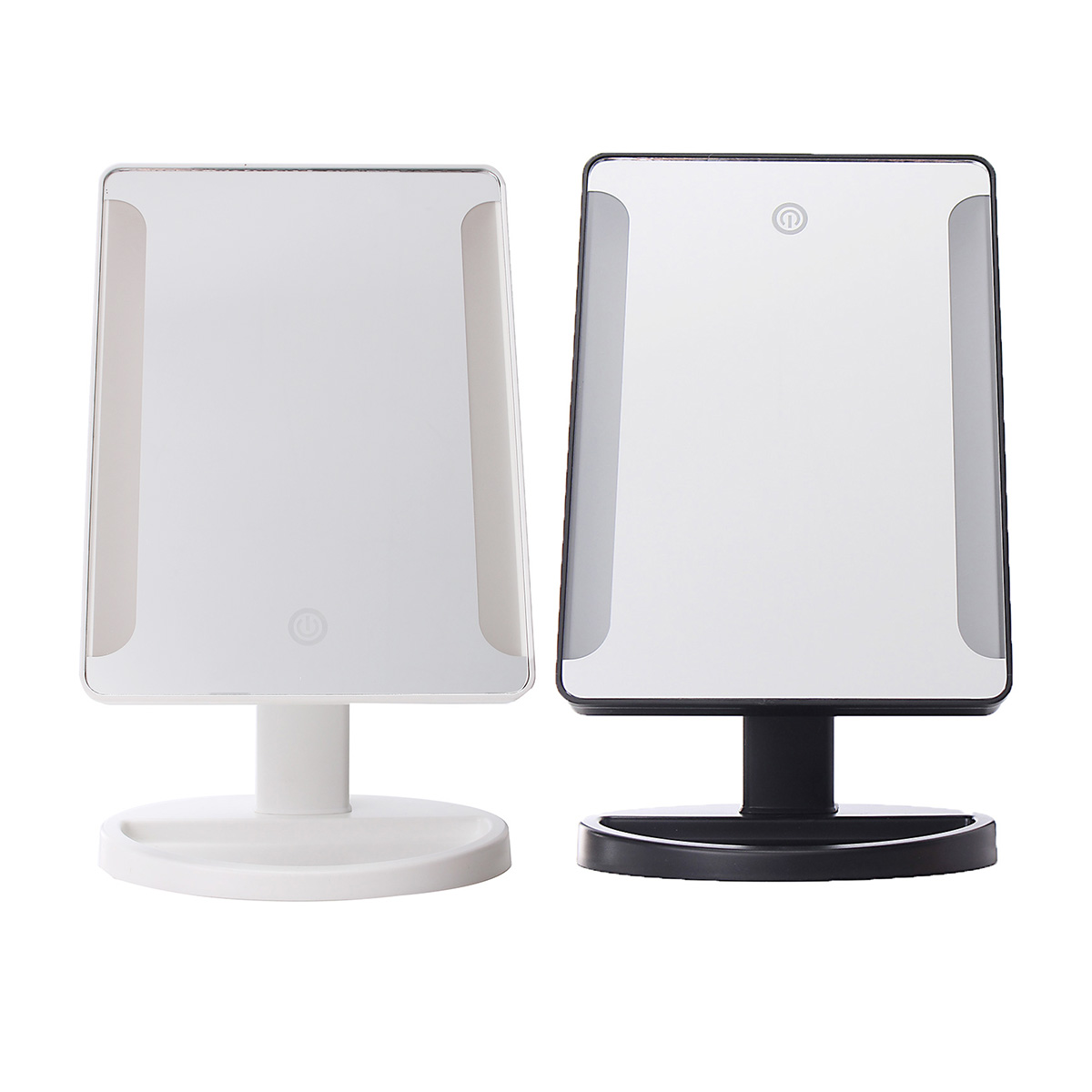 Touch Screen LED Makeup Mirror With 38 LED Lights Adjustable Countertop 180  Rotating Vanity Mirrors Tabletop
