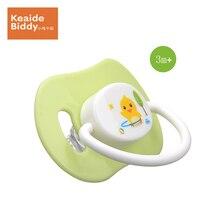 Bionics silica gel pacifier girl boy  highly elastic heat-resistant flat head baby dummy nipple on sale KD3016(small)