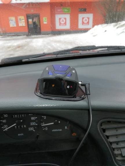 Viecar Car Radar Detector English Russian Auto 360 Degree Vehicle V7 Speed Voice Alert Alarm Warning 16 Band LED Display