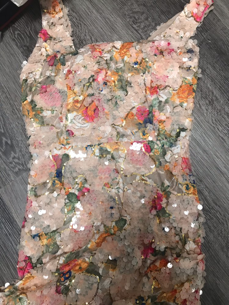 New Elegant Floral Sequins Dress Office Ladies Evening Party Luxury Mini Dress Chic Side Drop Ruched Wrap Club Vestidos photo review