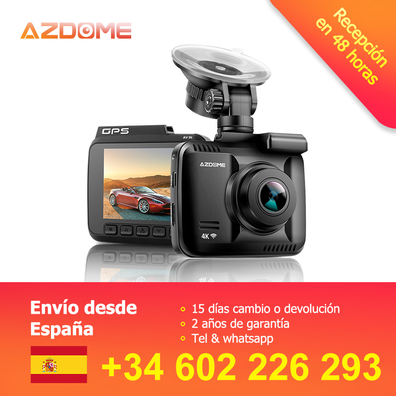 Azdome Gs63h Dual Lens Built In Gps Wifi Fhd 1080p Front + Vga Rear Camera Car Dvr Recorder 2160p Dash Cam Novatek 96660 Dashcam