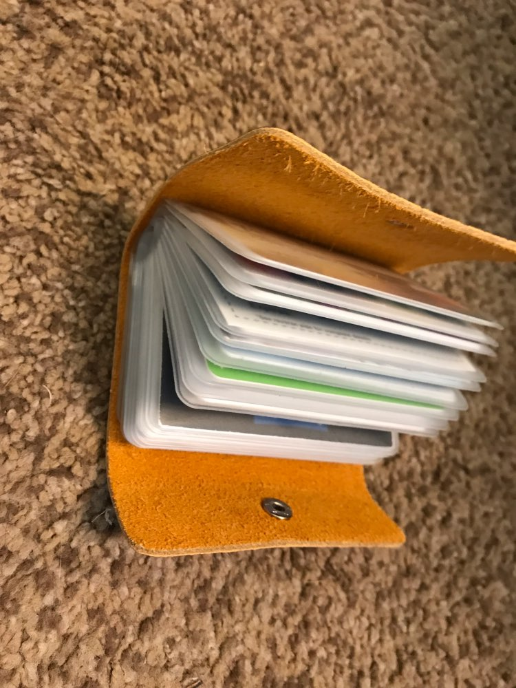 Genuine Leather Card Holder Business Credit Card Holder Men Wallet Case Bank Card id Holders cardholder for men porte carte 2019 photo review