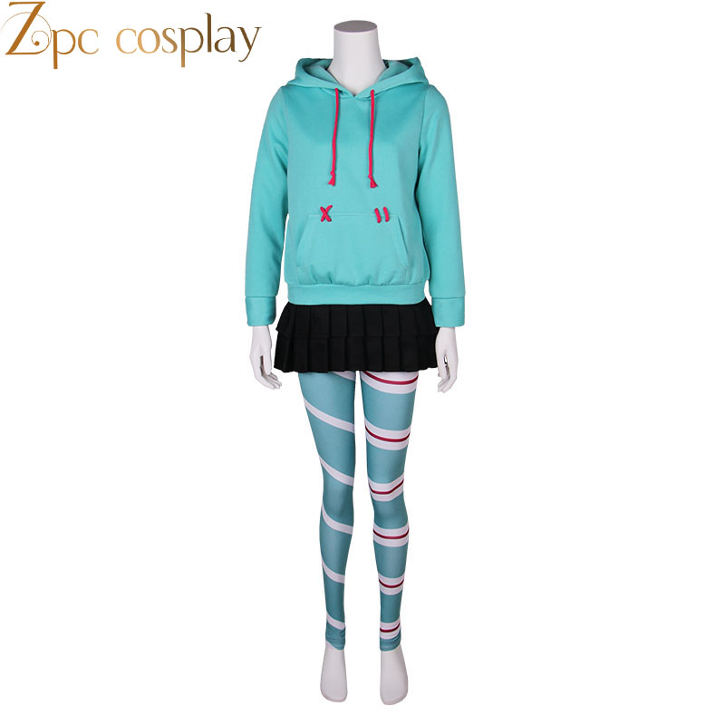 Movie Ralph Breaks The Internet; Wreck-It Ralph 2 Vanellope Von Schweetz Cosplay Costume Children Kids Costume Halloween Costume