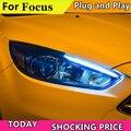 Автомобильный Стайлинг для Ford Focus 2015-2018 фары для focus ST Стайлинг фар DRL Объектив Двойной Луч Биксенон HID автомобильные аксессуары