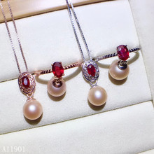 KJJEAXCMY exquisite jewelry 925 sterling silver inlaid natural ruby Pearl Ring Pendant Necklace suit support detection kjjeaxcmy exquisite jewelry 925 sterling silver inlaid natural jasper pendant ring necklace earring and ear nail set support