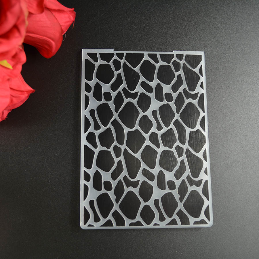 Stone Pattern Plastic Embossing Folder Background for DIY Scrapbooking Decorative Embossing Card Making