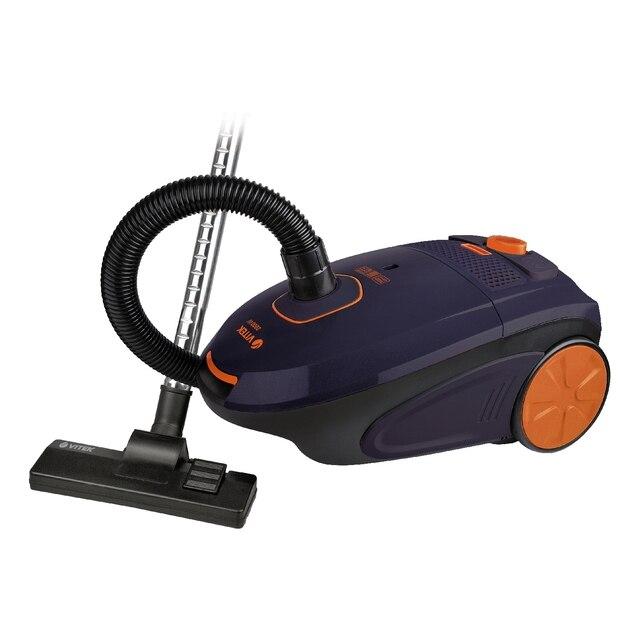 Пылесос электрический Vitek VT-8106 VT (С мешком для пыли, потребляемая мощность 2200 Вт, мощность всасывания 400 Вт, вместимость пылесборника 4 л, регулятор мощности, 5 ступеней фильтрации, длина шнура 5 м)