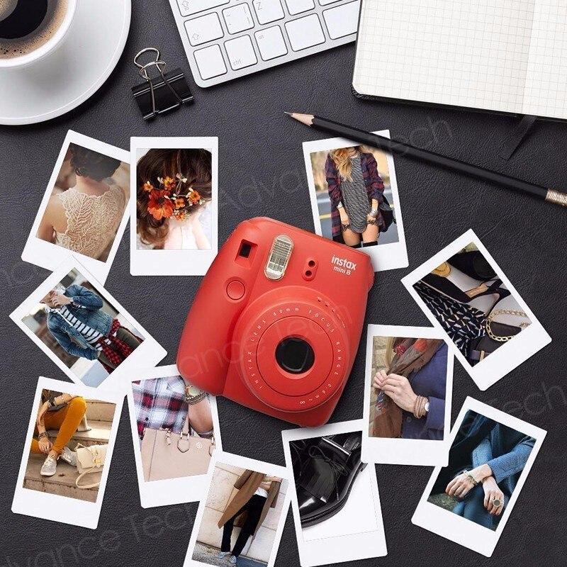Véritable 50 feuilles blanc bord Fuji Fujifilm Instax Mini 8 Film pour 7 s/9/70/90/25 sp-1 300 caméras instantanées papier Photo - 4