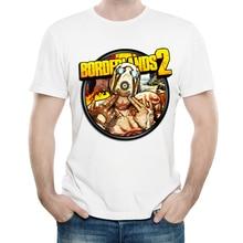Borderlands T Shirt White Color Mens Fashion Short Sleeve Game Logo T-shirt Tops Tees tshirt Casual