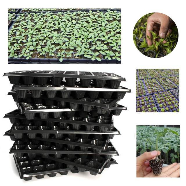 32 Cells Seedling Starter Nursery Pots Trays Seed Germination Garden Plants Propagation Vegetables Farm Tools