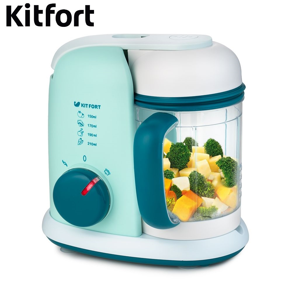 Blender-steamer Kitfort KT-2305 kitchen Juicer Portable blender kitchen Cocktail shaker Chopper Electric Mini blender portable manual juicer fruit tool