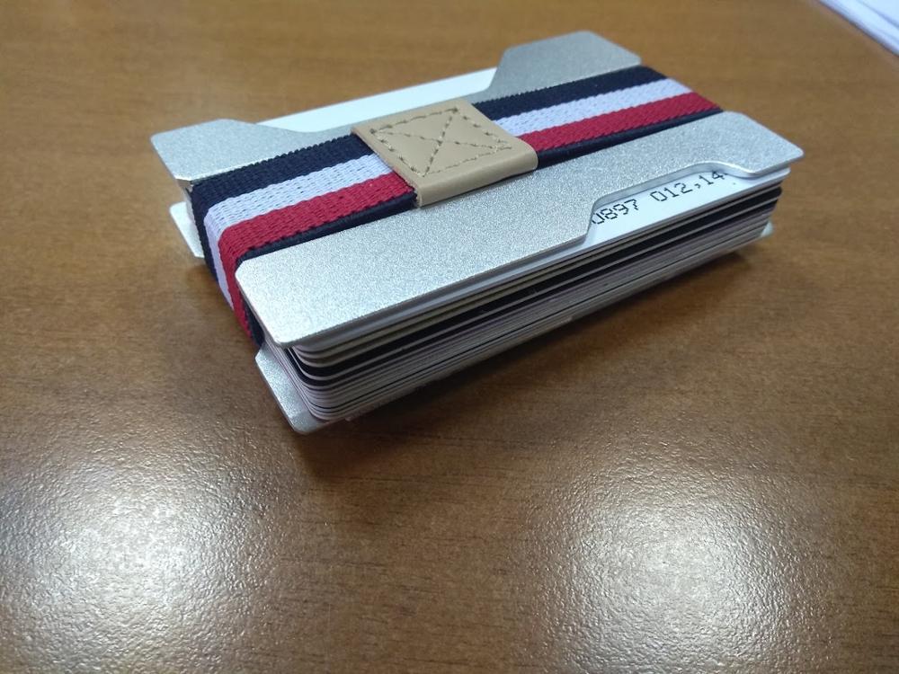 Modern - Antitheft Rfid Blocking Slim Minimalist Wallet Kaarthouder Kaart Case Geldklem Heren Reisportemonnee voor Creditcard photo review