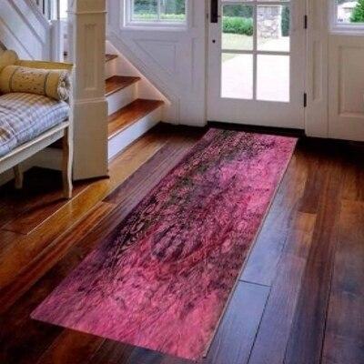 Else Purple Turkish Ethnic Ottoman Vintage 3d Print Non Slip Microfiber Washable Long Runner Mat Floor Mat Rugs Hallway Carpets