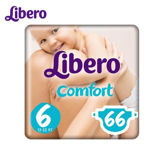 Подгузники Libero Comfort Size 6 (12-22кг), 66 шт.