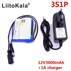 Image 1 - HK LiitoKala Dii 12V3000 DC 12 V 3000 mAh 18650 Li   lon DC12V แบตเตอรี่ชาร์จไฟ + เครื่องชาร์จ AC + ป้องกันการระเบิด EU
