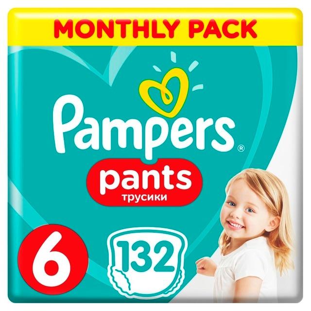 Трусики Pampers Pants 15+ кг, размер 6, 132 шт.