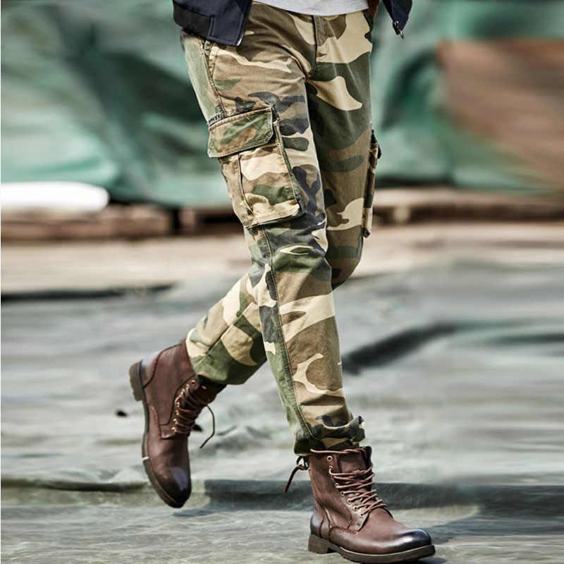 Militaire Tactische Broek Mannen Special Forces Camouflage Combat Camo Army Broek Mannelijke Joggers Werken Grote Maat Mannen Kleding
