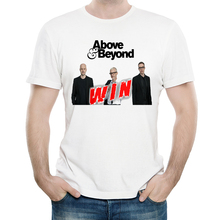 Band Above & Beyond T Shirt White Color Mens Fashion Short Sleeve Logo T-shirt Tops Tees tshirt