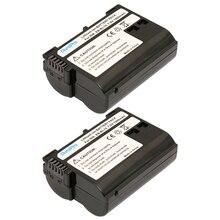 Big discount 2Pcs EN-EL15 EN EL15 ENEL15 camera Battery for Nikon D600 D610 D600E D800 D800E D810 D7000 D7100 D750 V1 MH-25 Digital Camera