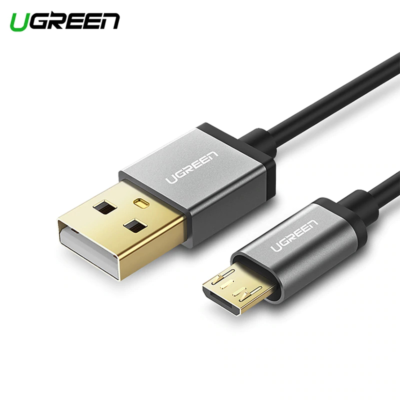 Ugreen Micro USB Cable 2A Fast Charging Data Cable for Xiaomi Huawei HTC Mobile Phone Charger Cable Micro USB Cables Model 10824 usb male to micro usb male data charging spring cable w 2 led rgb light for samsung s3 s4 red
