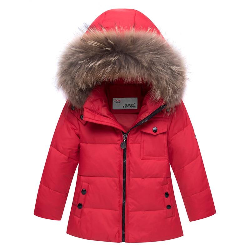 93f1226fc9be 2018 New Winter Baby Boys Girls Duck Down Snowsuits Jacket Children ...