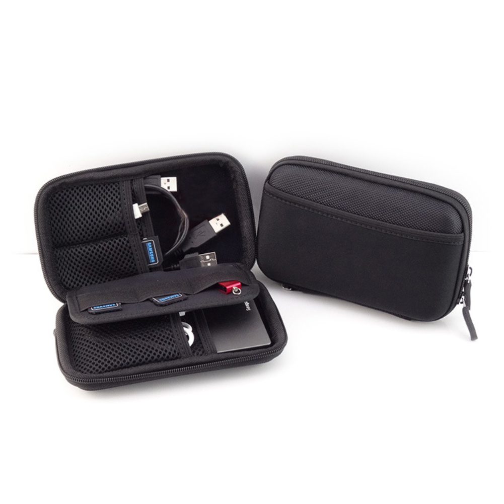 Portable Hard Drive Disk Storage Case Cover Cable Earphone Phone Power Bank