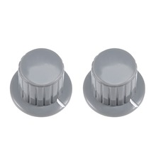 UXCELL 2Pcs 6mm Potentiometer Rotary Knob Insert Shaft 25x19.5mm Plastic For Connect Rotary Potentiometer Switch Supplies Grey цены