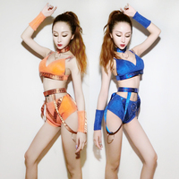 Pole Dancing Bodysuit Costume Gogo Modern Dance Wear Jazz Performance Costumes Dj Singer Stage Clothes Woman Party Outfit DWY303