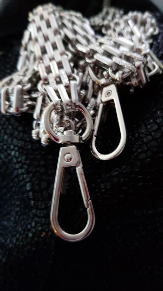 (DIY 40cm-140cm) Gold, Gun Black, Silver, Brozen Metal Replacement Purse Chain Shoulder Crossbody Strap for Small Handbag Chain photo review