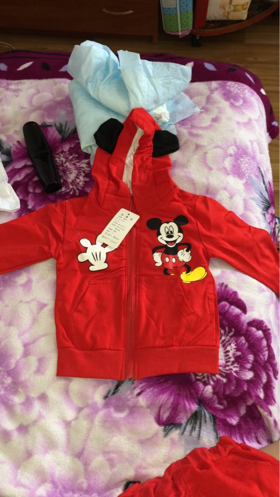 Baby Boy's Cute Mickey Mouse Printed Cotton Clothing Set photo review